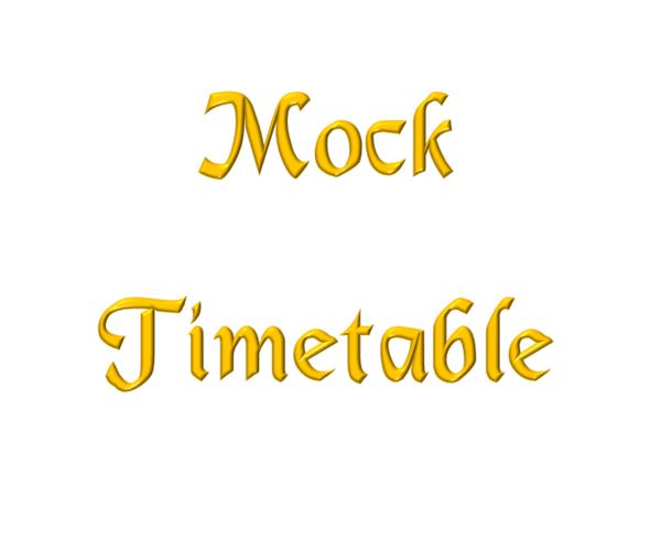 Mock Timetables