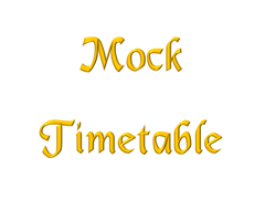 Mock Time Tables