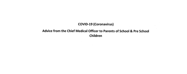 Department of Health advice to Schools re COVID-19